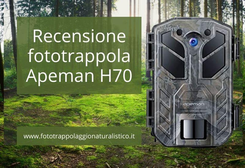 Recensione fototrappola Apeman H70 per fototrappolaggio