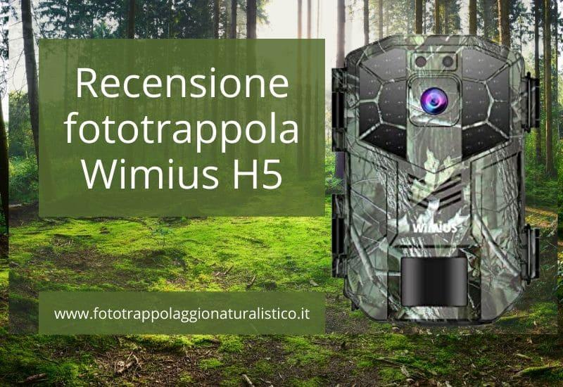 Recensione fototrappola Wimius H5 per fototrappolaggio