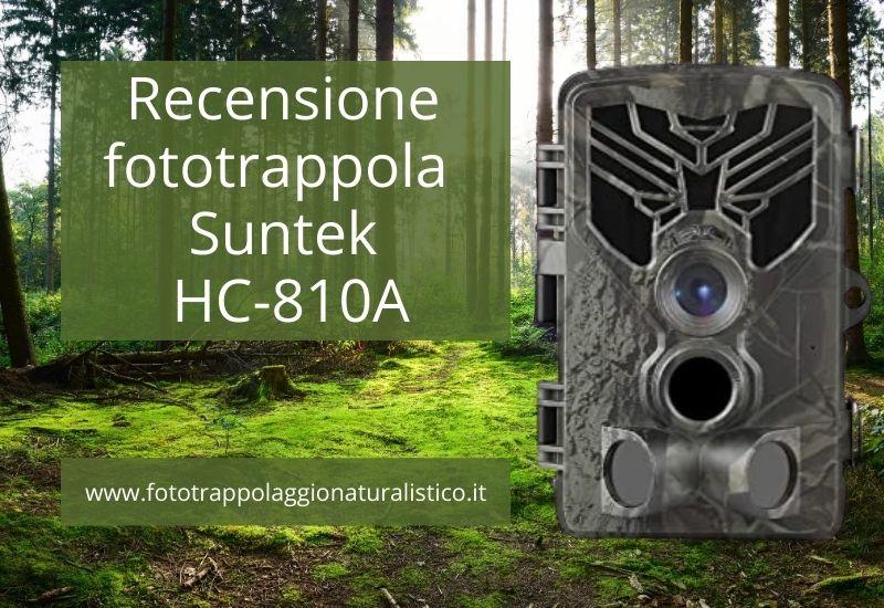 Recensione fototrappola Suntek HC-810A