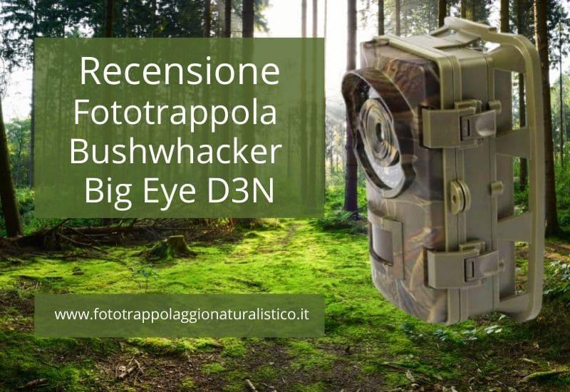Recensione fototrappola Bushwhacker Big Eye D3N