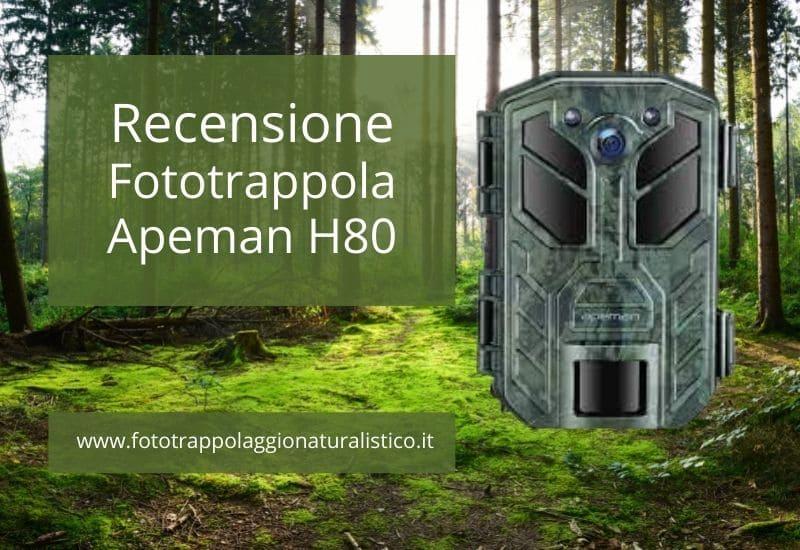 Recensione Fototrappola Apeman H80