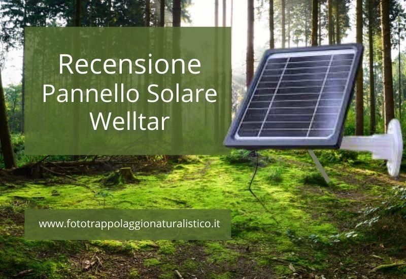 Recensione pannello solare per fototrappole